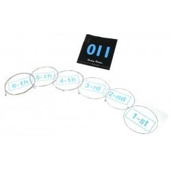 Set de 6 CORDES 11-52 nickel pour guitare électrique