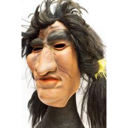 Masque latex avec perruque 2