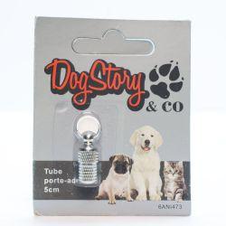 Tube porte-adresse pour chien
