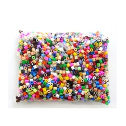 Sachet de 1000 perles Hama (mix de plus de 25 couleurs)
