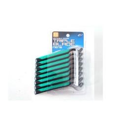 Lot 8 Rasoirs Triple lames et bande lubrifiante et apaisante
